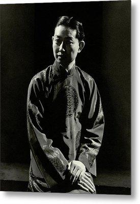 Mei Lanfang Wearing A Chinese Jacket Metal Print
