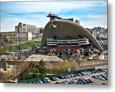 Mellon Arena Partially Deconstructed Metal Print by Amy Cicconi