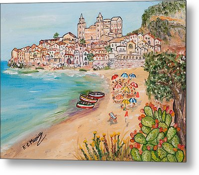 Metal Print featuring the painting Memorie D'estate by Loredana Messina