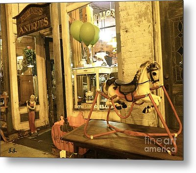 Metal Print featuring the photograph Memories For Sale by Geri Glavis