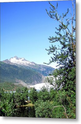 Metal Print featuring the photograph Mendenhall Glacier by Jennifer Wheatley Wolf