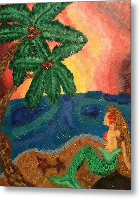 Mermaid Beach Metal Print by Oasis Tone