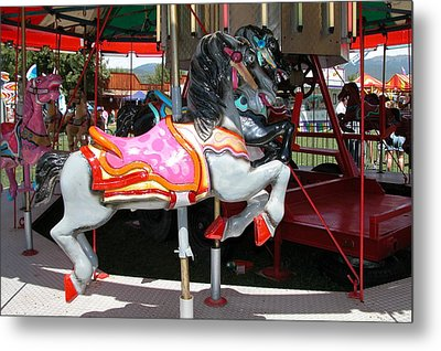 Merry-go-round Horse Metal Print by Mary M Collins