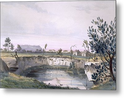 Messrs Arthurs Sheep Station, With One Metal Print by George French Angas