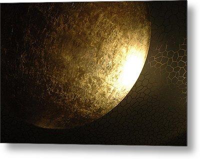 Metallic Moon Metal Print by Kathy Schumann