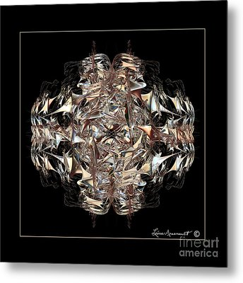 Metallic On Black Metal Print