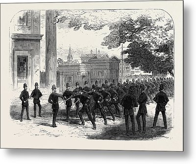 Metropolitan Police Learning The Cutlass Exercise Metal Print by English School