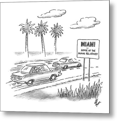Miami:  Home Of The Miami Relatives Metal Print by Frank Cotham
