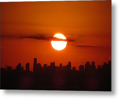 Metal Print featuring the photograph Miami Sunset by Jennifer Wheatley Wolf