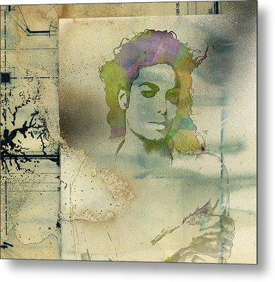 Michael Jackson Silhouette Metal Print by Paulette B Wright