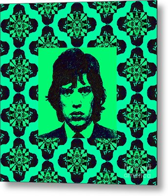 Mick Jagger Abstract Window P128 Metal Print by Wingsdomain Art and Photography