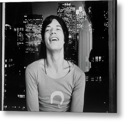 Mick Jagger Laughing Metal Print