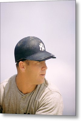 Mickey Mantle Ready To Swing Metal Print by Retro Images Archive