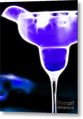 Midnight Blue Margarita Breeze Metal Print by Wingsdomain Art and Photography
