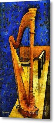 Midnight Harp Metal Print by RC DeWinter
