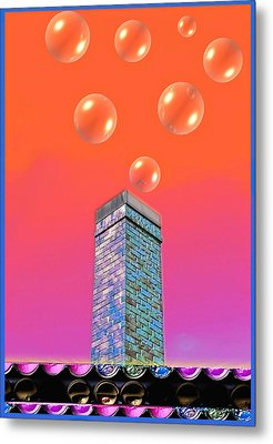 Mildrena's Chimney - Bubbles Metal Print by Wendy J St Christopher