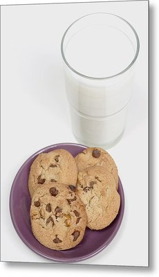 Milk And Cookies Metal Print by Greenwood GNP