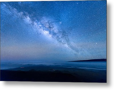 Milky Way Suspended Above Mauna Loa 1 Metal Print