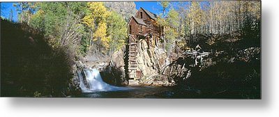 Mill At Crystal River Valley, Autumn Metal Print by Panoramic Images
