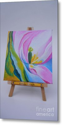 Metal Print featuring the painting Mini O'keefe by Diana Bursztein