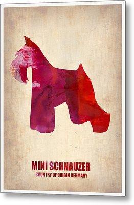 Miniature Schnauzer Poster Metal Print by Naxart Studio