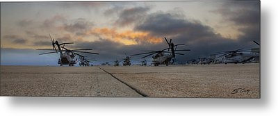 Metal Print featuring the photograph Miramar Tarmac by Ed Cilley