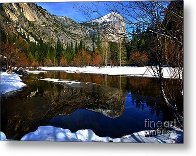 Mirror On The Lake Metal Print by Peter Dang