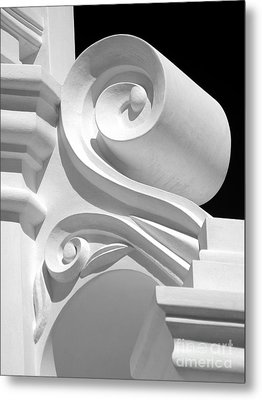 Mission Shapes And Shadows - Shades Of Grey Metal Print by Douglas Taylor