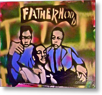Mlk Fatherhood 2 Metal Print by Tony B Conscious