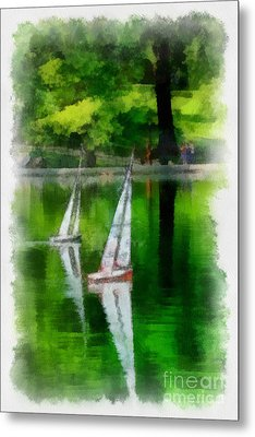 Model Boat Basin Central Park Metal Print by Amy Cicconi
