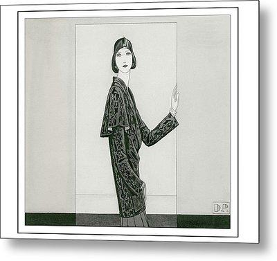 Model Wearing Chanel And Marie-christiane Metal Print by Douglas Pollard