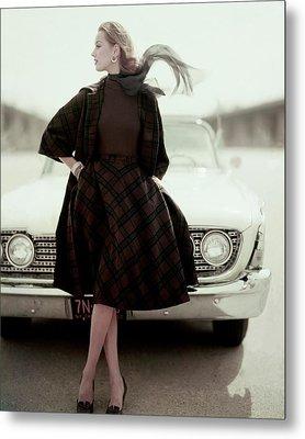 Model Wearing Suit By Bud Kilpatrick Metal Print