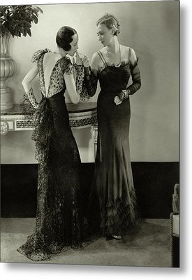 Models In Evening Gowns Metal Print by Edward Steichen