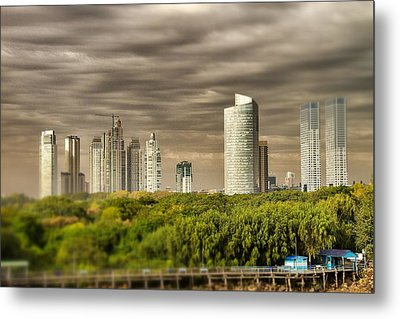 Modern Buenos Aires Tilt Shift Metal Print by For Ninety One Days