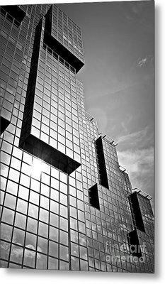 Modern Glass Building Metal Print by Elena Elisseeva