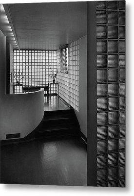 Modern Hallway Metal Print by Hedrich-Blessing