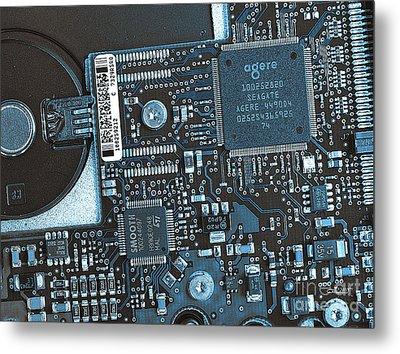 Modern Technology Metal Print by Jutta Maria Pusl