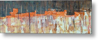 Metal Print featuring the painting Mojave Skyline by Buck Buchheister