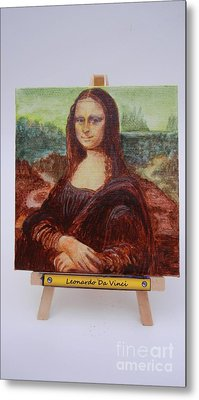 Metal Print featuring the painting Mona by Diana Bursztein