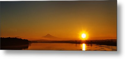 Metal Print featuring the photograph Monday Morning Columbia River Mount Hood by Michael Rogers