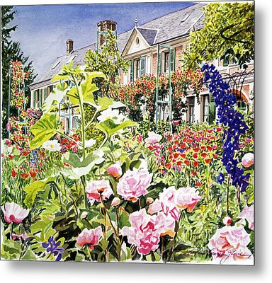 Monet's Garden Giverny Metal Print by David Lloyd Glover