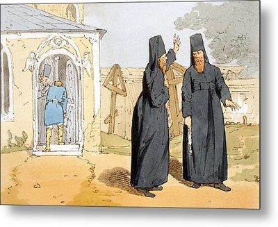 Monks, C.1804 Metal Print by John Augustus Atkinson