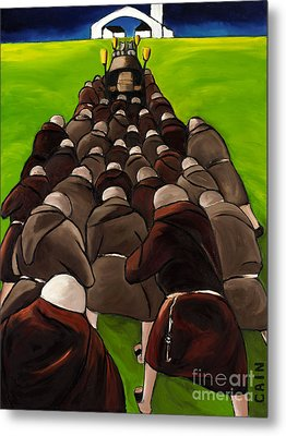 Monks Funeral Metal Print by William Cain