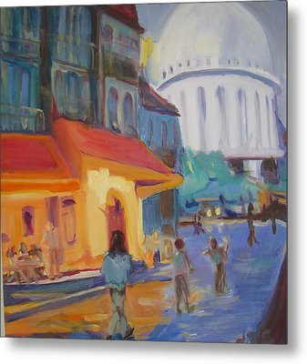 Metal Print featuring the painting Monmartre by Julie Todd-Cundiff