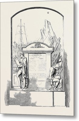 Monument To Sir John Franklin And His Companions Metal Print by English School