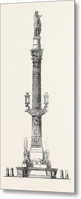 Monumental Fountain Recently Erected At Barcelona Metal Print