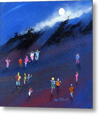 Moon Beam Search Metal Print by Neil McBride