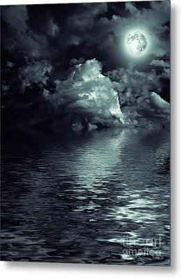 Moon Mysterious Metal Print by Boon Mee