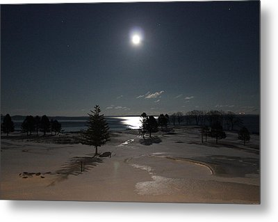 Moon Over The Samoset Metal Print