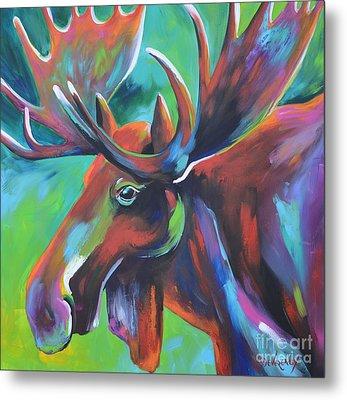 Moose Metal Print by Cher Devereaux
